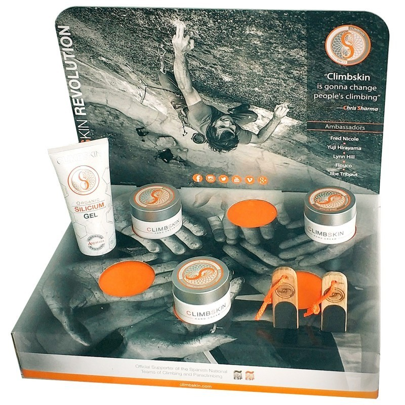 Picture Crema de manos Climbskin. Welcome pack. Display